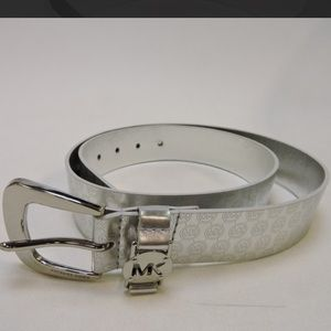 Michael Kors Silver Belt Monogram - Large